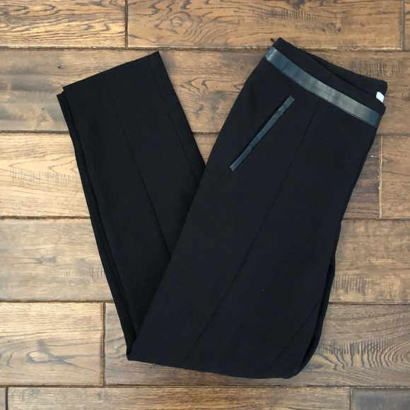 Pants with Faux Leather